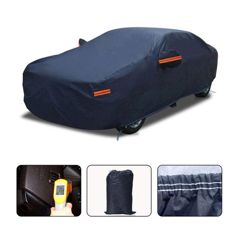 Full Car Cover for Sedans, Waterproof Breathable All Weather Protection, Universal Fit Full Auto Vehicle Cover Up to 185 inch - YITAMotor