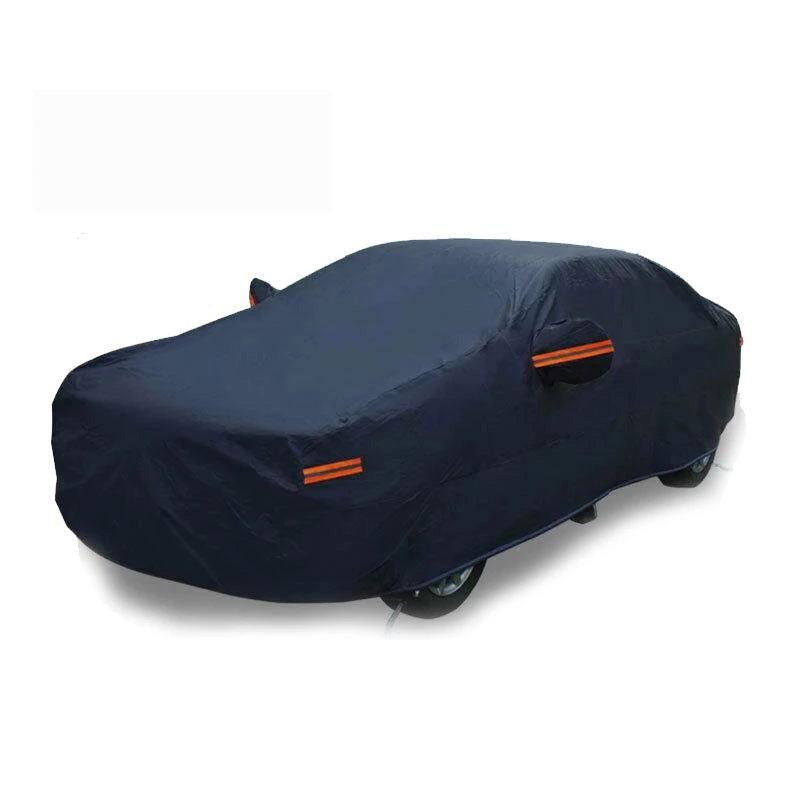 Full Car Cover Waterproof Breathable Auto Protection UV Rain Snow Dust Resistant Fits up to 208'' (Dark Blue) - YITAMotor