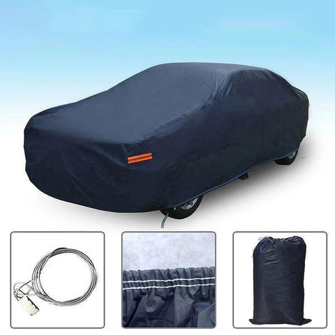 Fit Cars up to 208 inches (Dark Blue) Sedan Car Cover, Waterproof Breathable Full Protection Universal Indoor Outdoor Auto Protector - YITAMotor