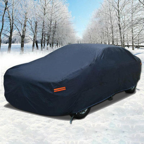 Full Car Cover Waterproof Rain Snow Heat UV Dust Resistant Outdoor & Indoor A5 - YITAMotor