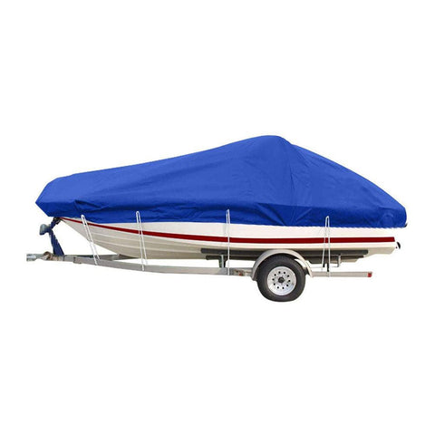20-22Ft Boat Cover Fits V-Hull, Non-Abrasive Lining Heavy Duty Breathable Oxford Fabric Boat Cover, Waterproof Dustproof All Weather protecter - YITAMotor