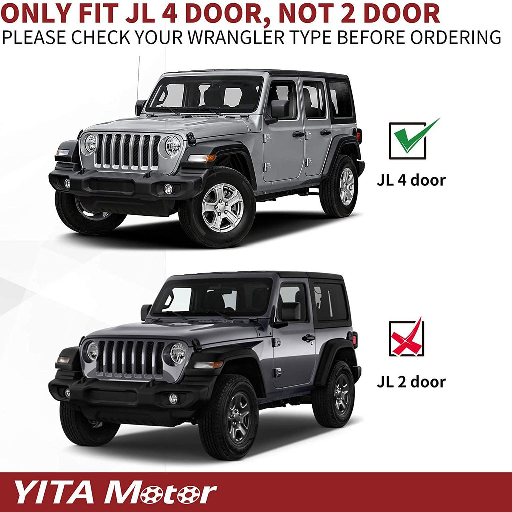 "6.5"" Running Boards For 2018-2021 Jeep Wrangler JL Unlimited 4 Door (Excl. JK Model), Textured Black Nerf Bars Side Steps"