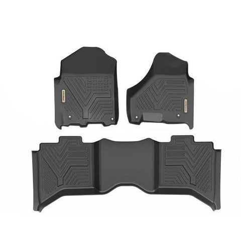 Floor Mats for 2019 Ram 1500 Classic Crew Cab 2012-2018 Dodge Ram 1500 2500 3500 Crew Cab 1st and 2nd Row All Weather Protection - YITAMotor