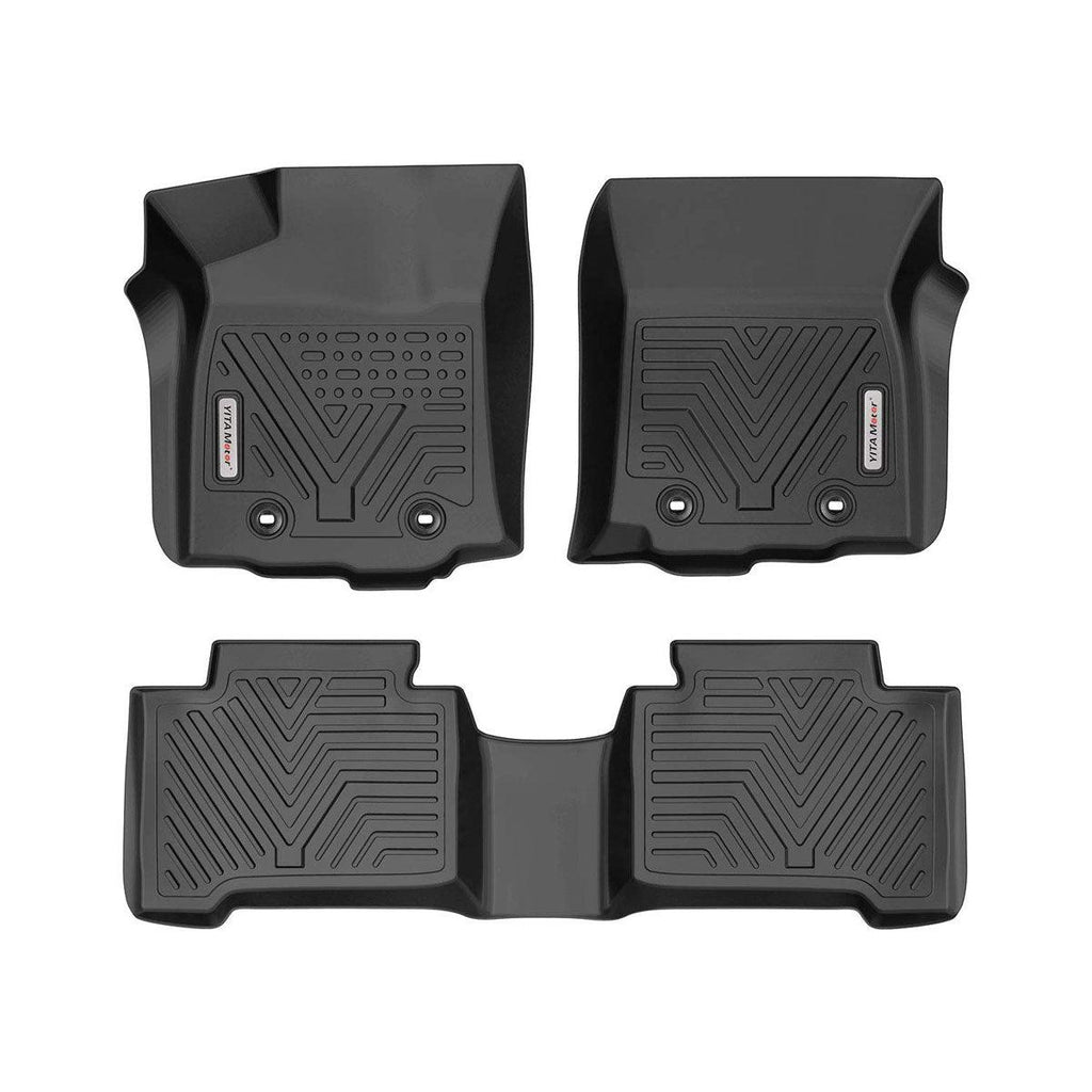Custom Fit Floor Liners for 2018-2020 Toyota Tacoma Double Cab, Floor Mats 1st & 2nd Row All Weather Protection - YITAMotor