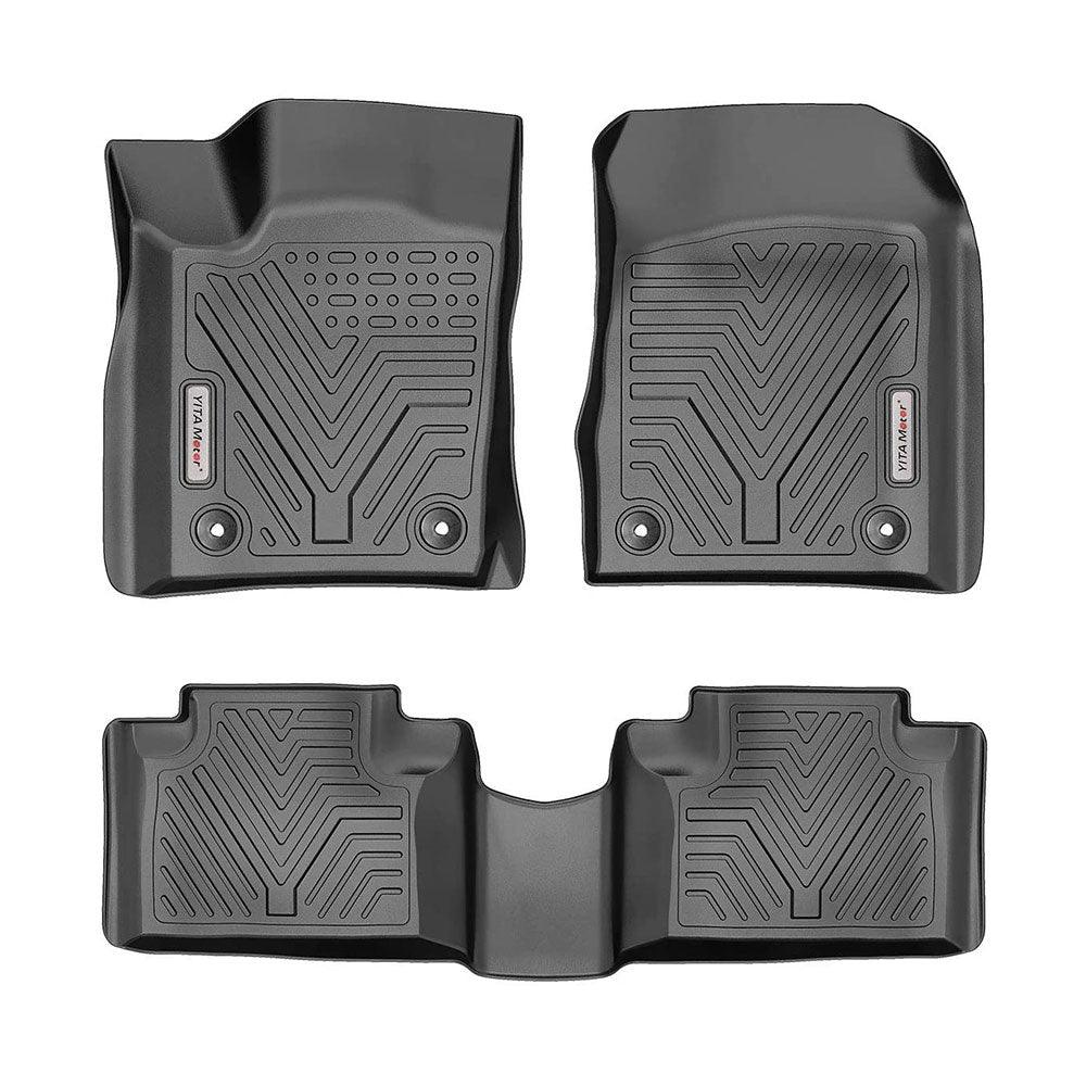 San Auto Car Floor Mats Custom Fit for Jeep Grand Cherokee 2016-2017-2018-2019-2020 Full Black Rubber Auto Floor Liners Mat Set All Weather Protection Heavy Duty Odorless