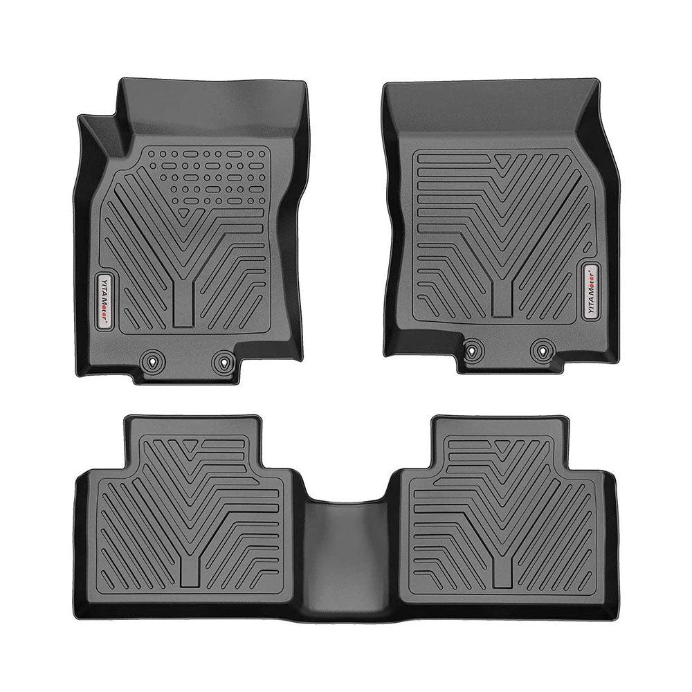 YITAMOTOR Floor Mats, Custom fit Floor Liners for 2014-2020 Nissan Rogue, 1st & 2nd Row All Weather Protection(No Rogue Sport or Select Models) - YITAMotor