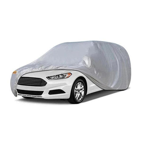 16ft Silver SUV Full Car Cover 100% Waterproof Breathable All Weather Protection - YITAMotor