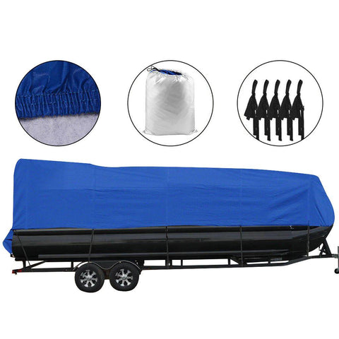 21-24ft Waterproof Heavy Duty Boat Cover Trailerable Pontoon Non-Abrasive Lining - YITAMotor