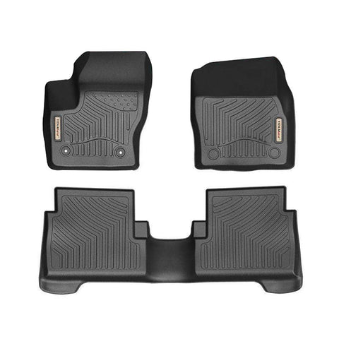 Floor Mats For Ford Escape, Custom Fit Floor Liners for 2015-2019 Ford Escape, 1st and 2nd Row All Weather Protection - YITAMotor