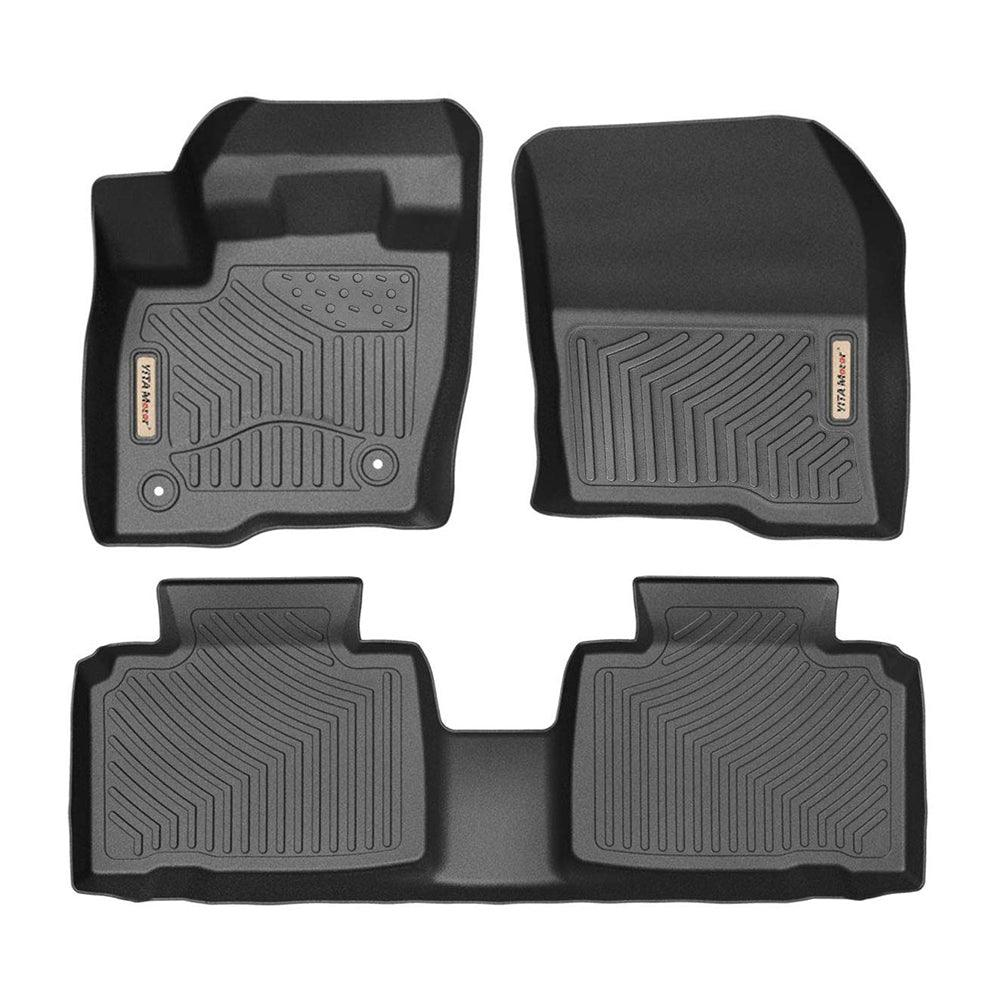 Floor Mats Floor Liners For 2015 2019 Ford Edge 1st 2nd Row All Wea Yitamotor