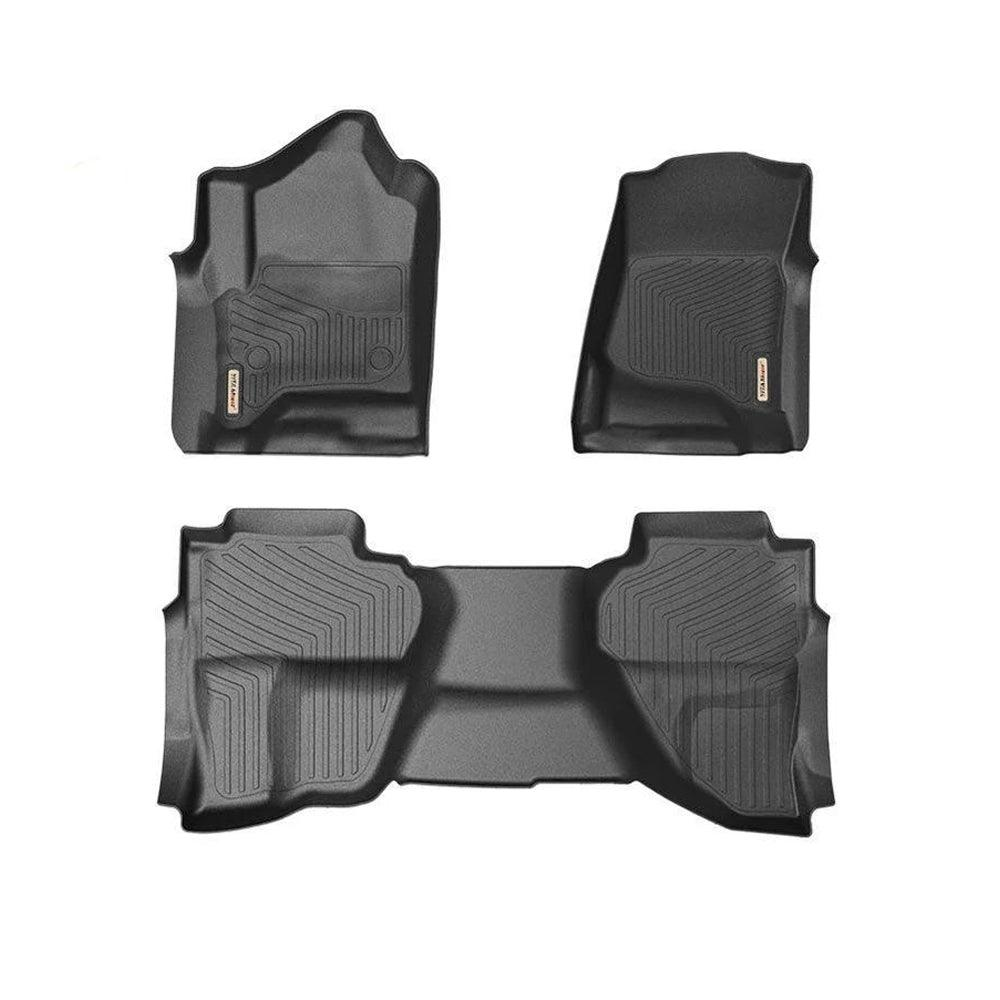 Floor Mats for 2014-2018 Chevrolet Silverado GMC Sierra 1500/2500HD/3500HD 1st and 2nd Row All Weather - YITAMotor