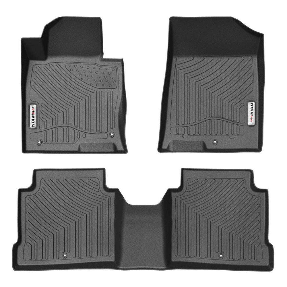 Floor Mats for 2016-2020 Kia Optima, 2015-2019 Hyundai Sonata, 1st & 2nd Row All Weather Protection - YITAMotor