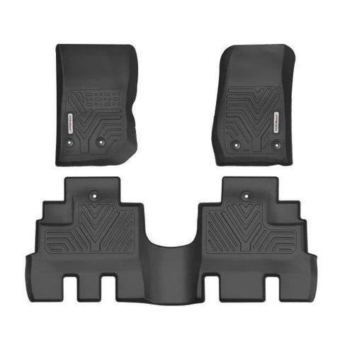 Floor Mats Floor Liners For Jeep Wrangler JK Unlimited 2014-2018, 1st & 2nd Row All Weather Protection - YITAMotor
