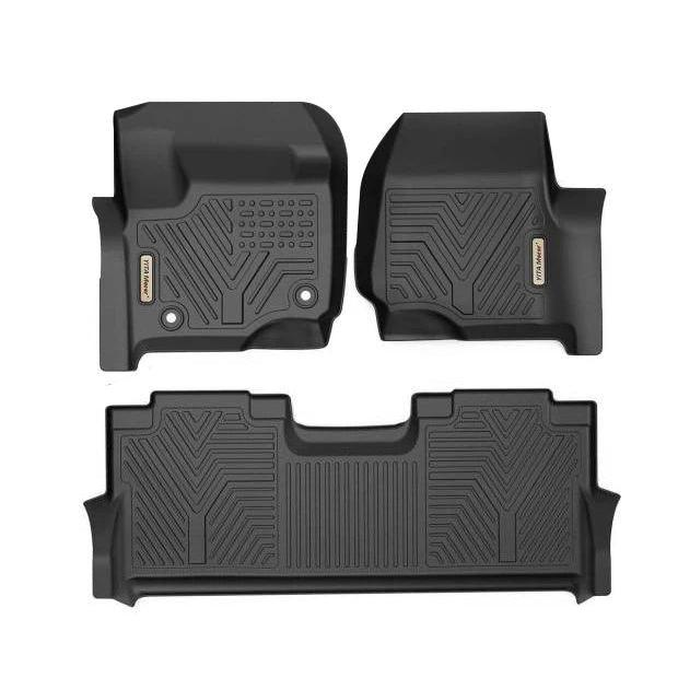 Front Row Floor Mats By Wade Black 2017-2020 Ford Super Duty all cab sizes