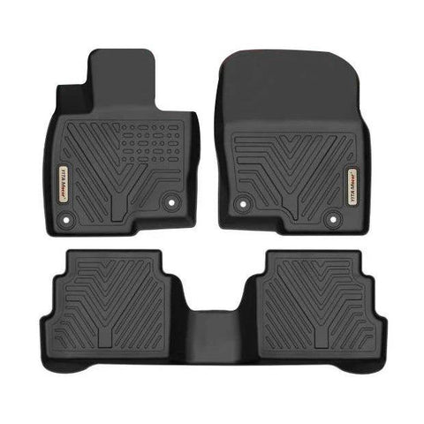 Floor Mats Floor Liners For 2017 2018 2019 2020 Mazda CX-5 1st & 2nd Row All Weather Protection - YITAMotor