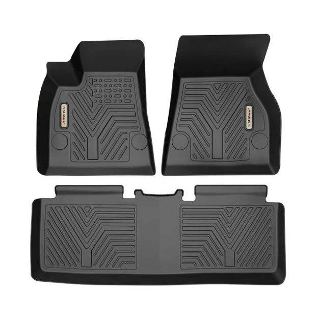 Floor Mats Floor Liners for 2015-2019 Tesla Model S, 1st & 2nd Row All Weather Protection - YITAMotor