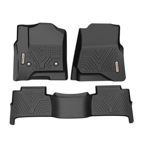 Floor Mats Floor Liner for 2015-2020 Chevrolet Tahoe/GMC Yukon, 1st & 2nd Row All Weather Protection - YITAMotor
