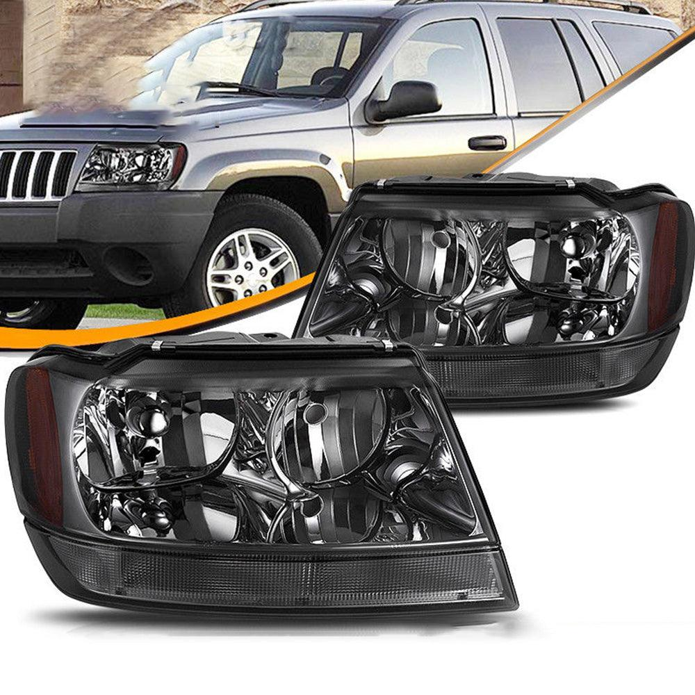 Smoke Housing For 1999-2004 Jeep Grand Cherokee Amber Corner Healight/Lamp Set - YITAMotor