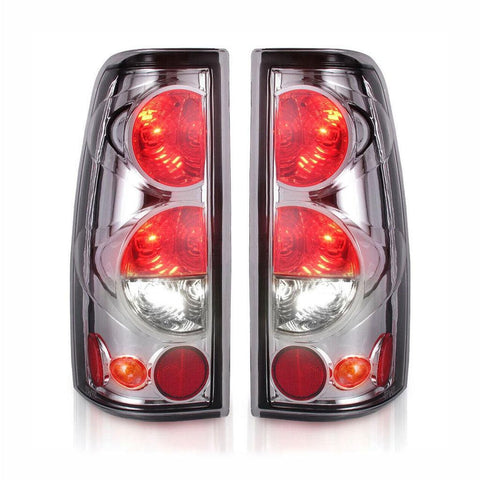 PAIR Tail Lights for 03-06 Chevy Silverado 1500 2500 3500 1999-2007/GMC Sierra 1500 2500 3500 1999-2002 (Do Not Fit Barn Door/Stepside Models) - YITAMotor
