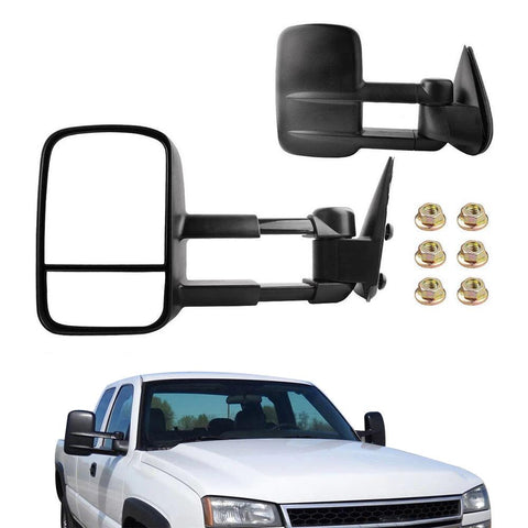 Towing Mirrors Compatible for Chevy GMC1999-2007 Chevy Silverado Sierra 1500 2500 3500, 2000-2006 Chevy Tahoe Suburban 1500 2500 GMC Yukon XL Truck - YITAMotor