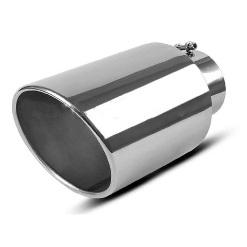 "5"" Inlet 8"" Outlet 15inch Long Chrome Stainless Steel Bolt On Diesel Exhaust Tip - YITAMotor"