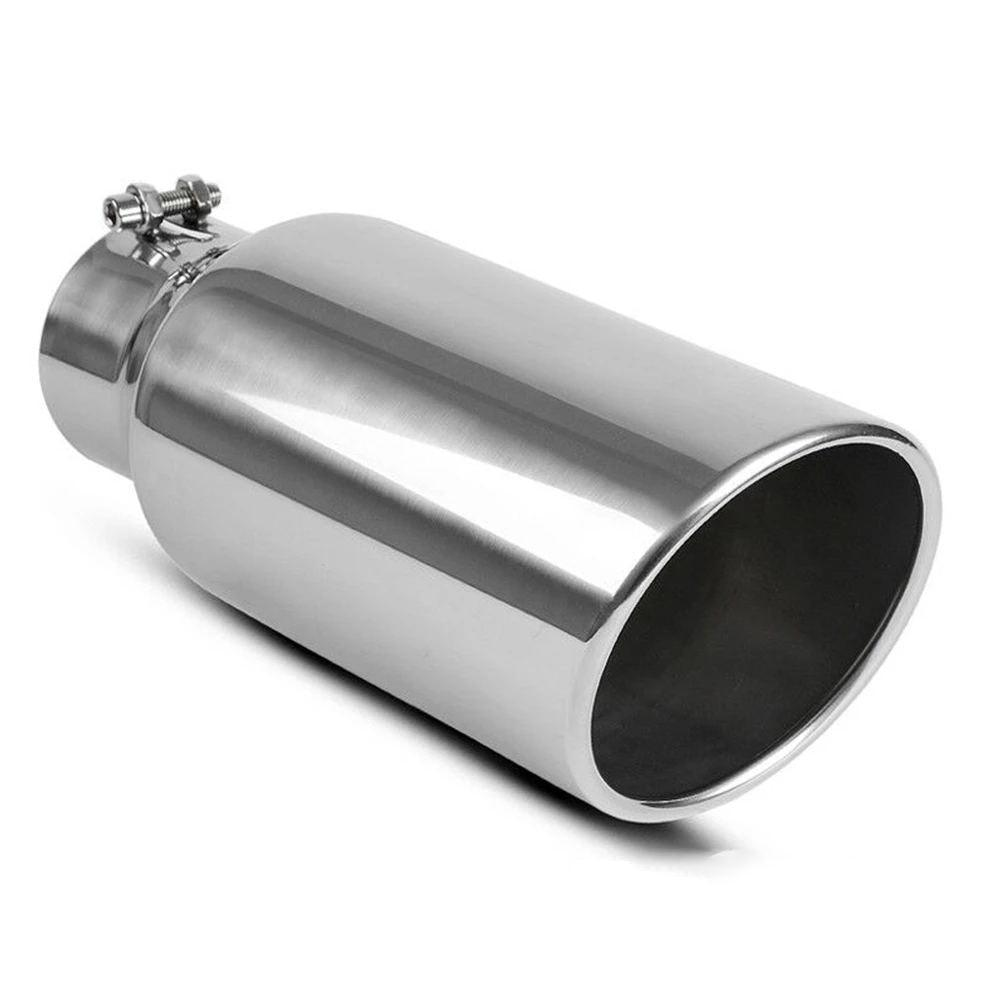 """6/"""" Outlet 15/"""" Long Diesel Stainless Steel Exhaust Tip 5/"""" Inlet Bolt On"""