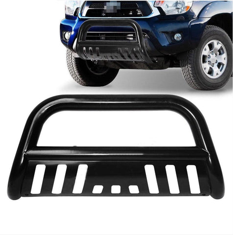 For Toyota Tacoma Steel Bull Bar Front Bumper Grill Guard Black - YITAMotor