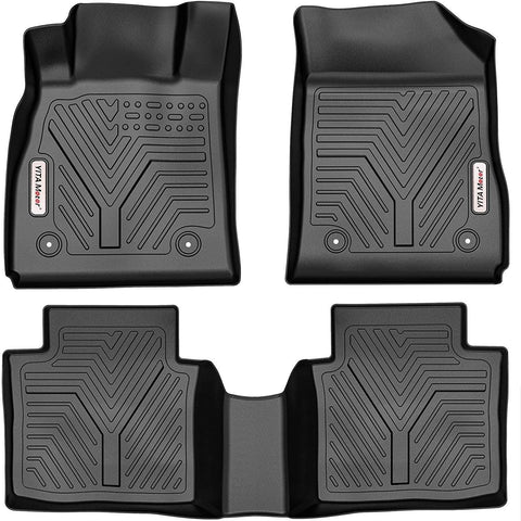 YITAMOTOR Floor Mats for 2014-2020 Chevrolet Impala, Custom Fit Black TPE Floor Liners 1st & 2nd Row All-Weather Protection