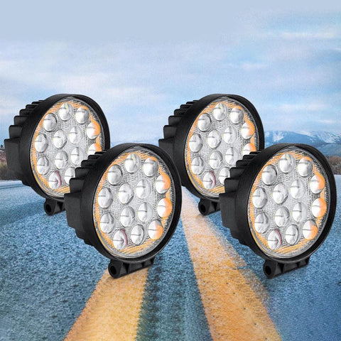 4x Round 5inch 60W Led Driving Lights - YITAMotor