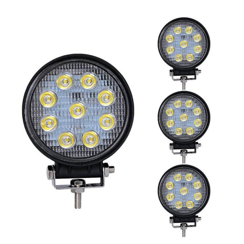 4x 27W 4Inch Round LED Work Light Offroad Fog Driving DRL SUV ATV - YITAMotor