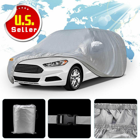 Waterproof Rain Uv Resistant Protection Full Car Cover - YITAMotor