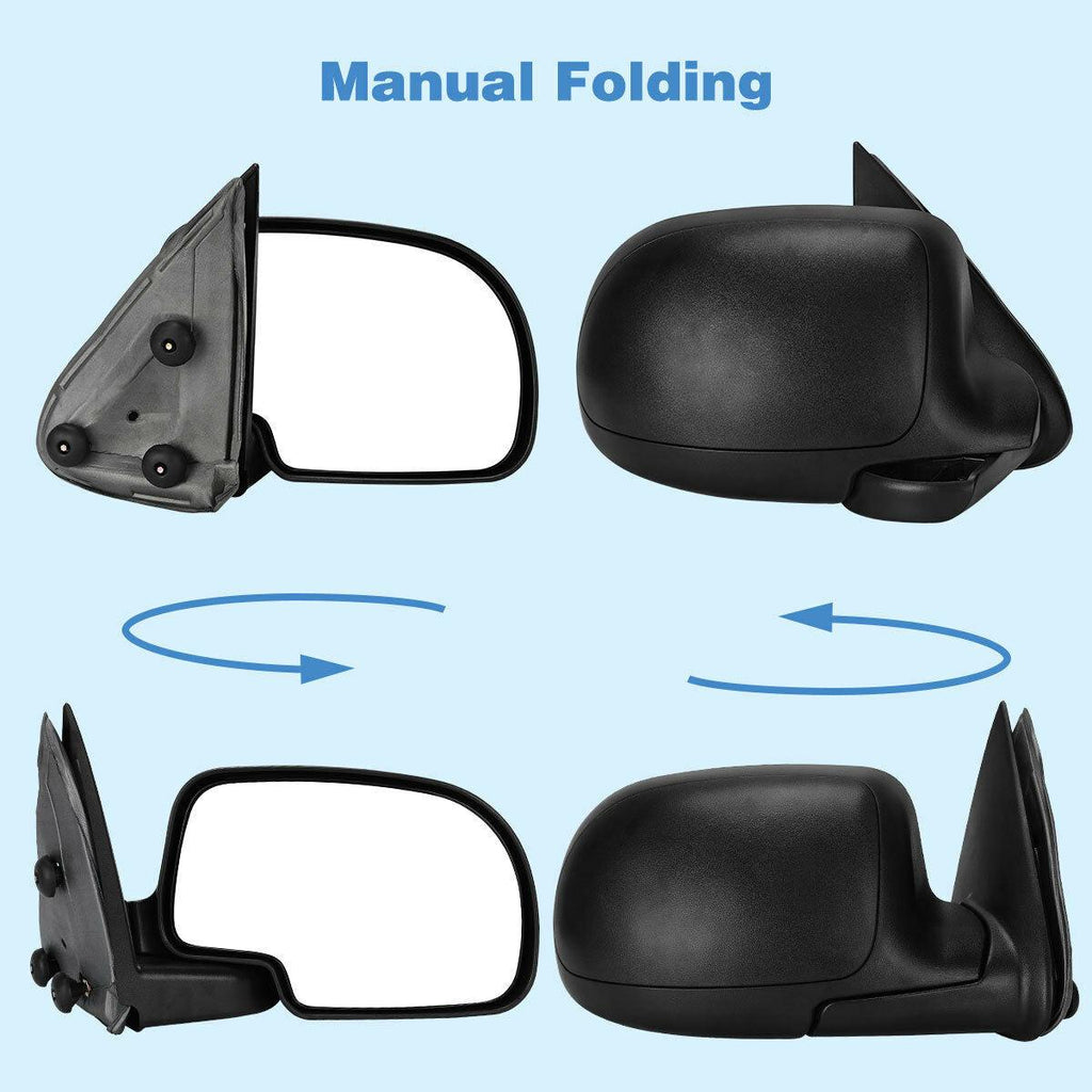 Manual Side Mirror Passenger Right for 1999-2006 Chevy Silverado Sierra 1500 2500 - YITAMotor