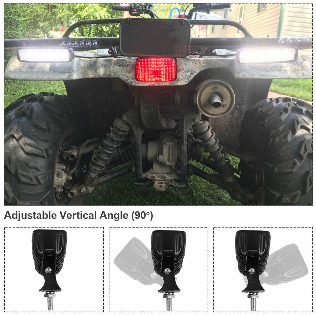 2PCS LED Light Bar 18W 6Inch Flood Work Light Pods Single Row Off Road Led Light Driving Light Fog Light Waterproof SUV ATV 4WD Car Truck 12V 24V - YITAMotor