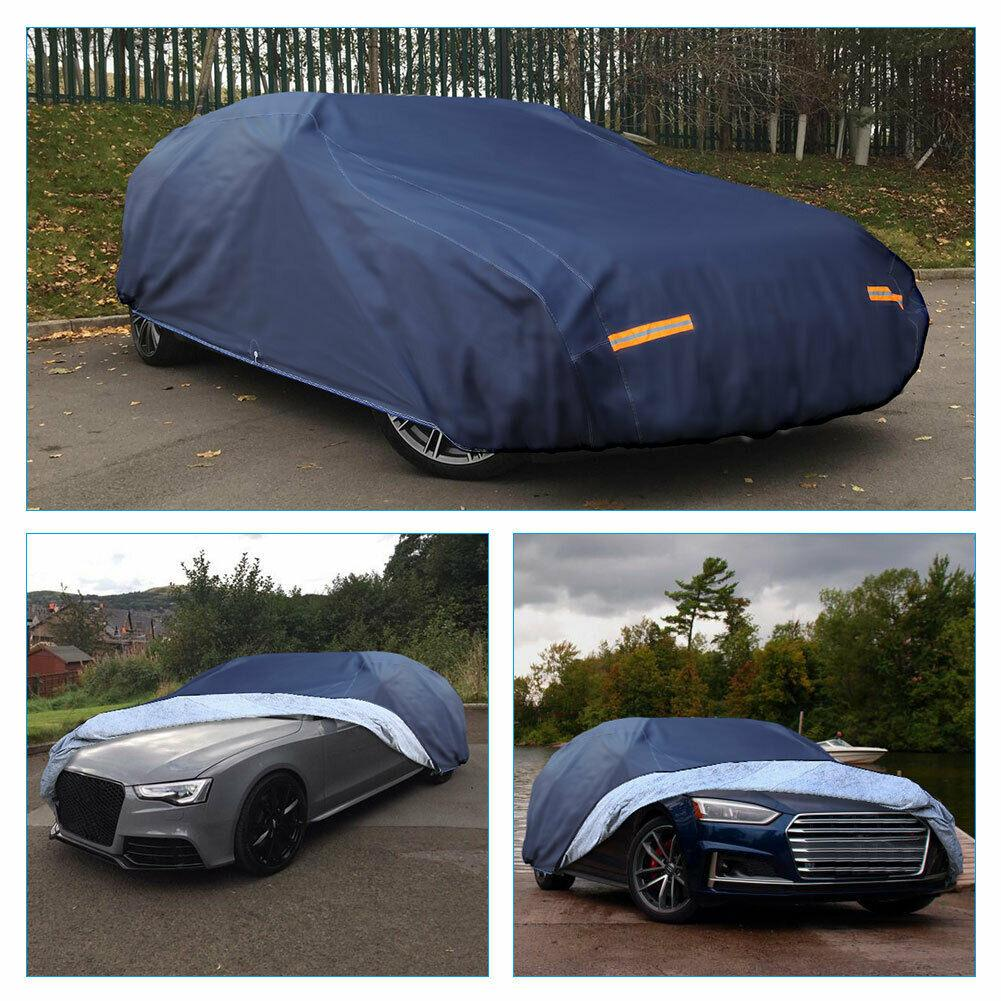 Fit Cars up to 210 inches Car Cover (Dark Blue), Full Car Cover All Weather Protection Waterproof Breathable Anti Dust Rain US - YITAMotor