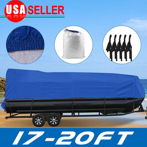 17 18 19 20 Ft Boat Cover Pontoon Heavy Duty Rain Snow Dust Resistant Protection - YITAMotor