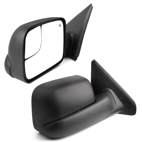 For 2002-08 Dodge RAM 1500 03-09 2500 3500 Power Heated Flip-up Tow Mirrors with Convex Lens (Pair Set) - YITAMotor
