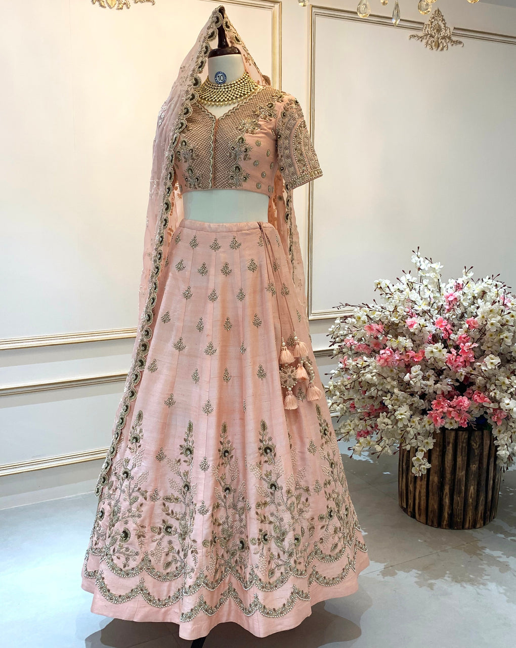 Raw Silk Bridal Lehenga