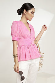 Ashley s/s  peplum top