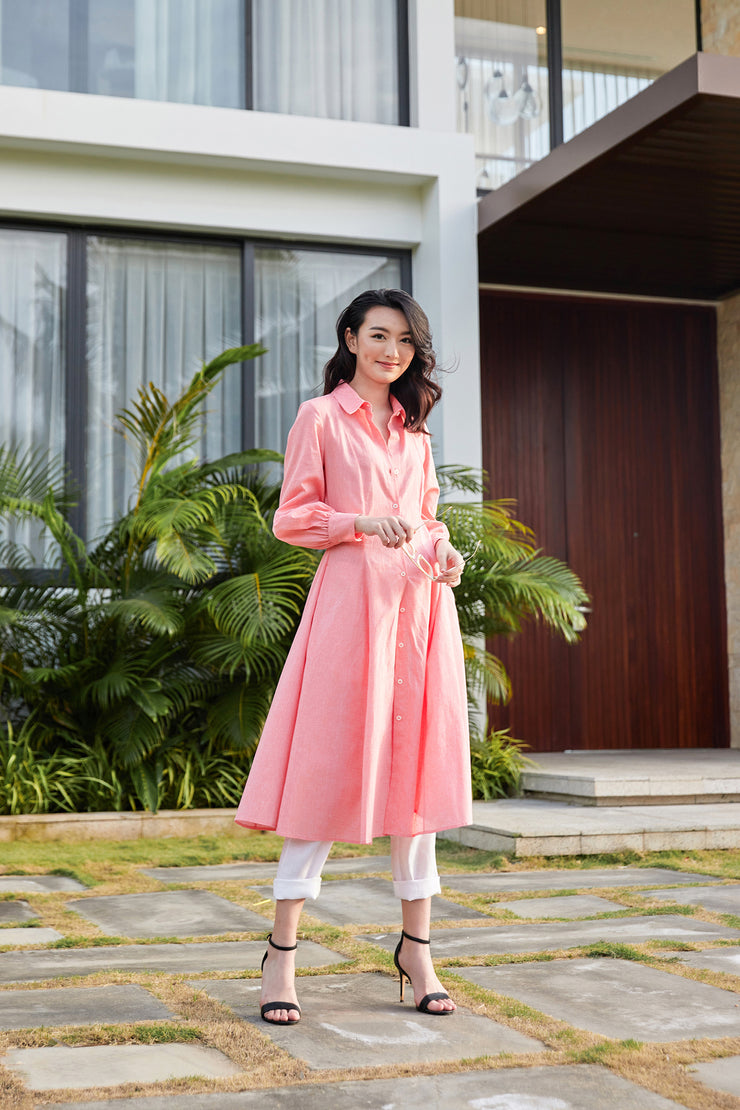 Marylyn Fitted Shirt Dress
