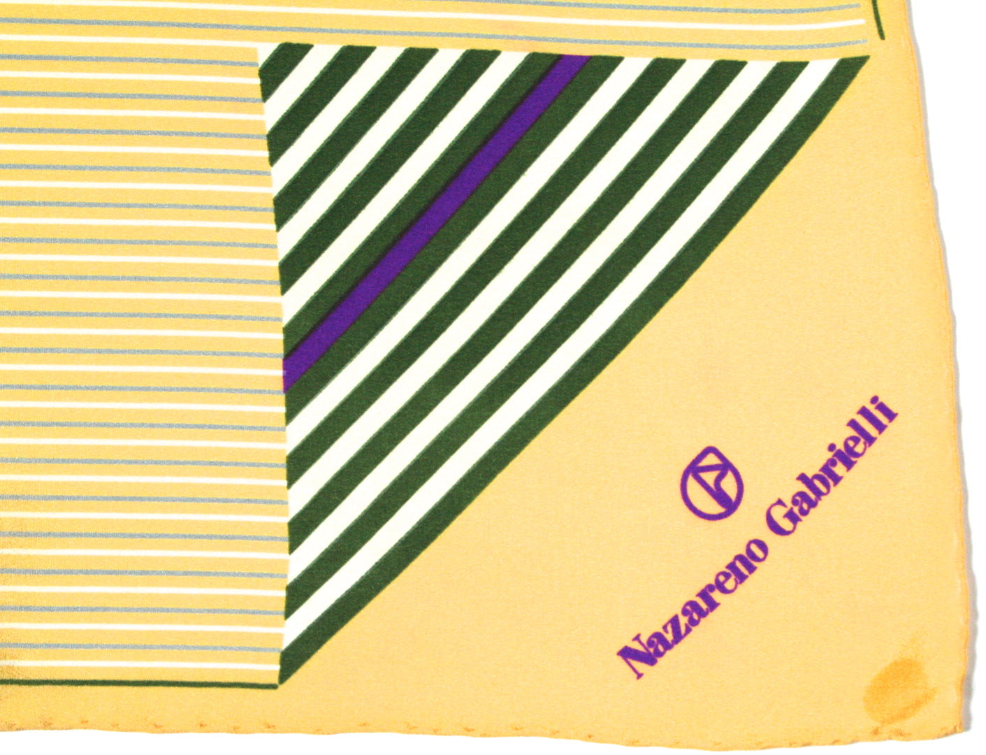 Nazareno Gabrielli - Yellow 'Hounds' silk scarf - Large
