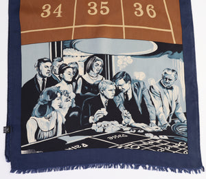Steve McQueen The Honeymoon Machine  Silk Scarf - Roulette -  Casino - Large