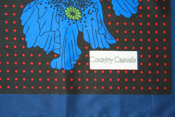Country Casuals  - 70s vintage polyester scarf -  L