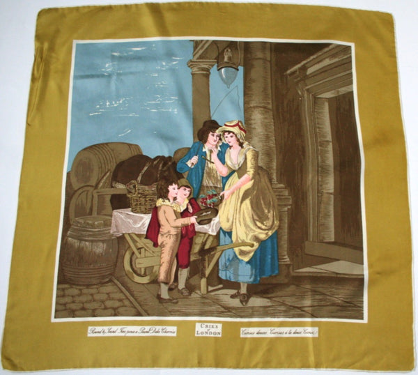 Simpson of Piccadilly - 'Cries of London'  'Cherries' Artist Silk Scarf - Medium