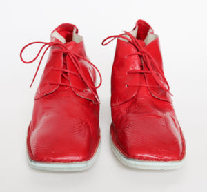 Abstract paisley print 90s vintage silk scarf - L