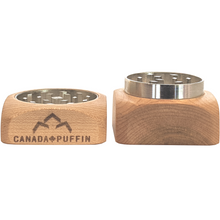 Load image into Gallery viewer, Canada Puffin maple wood and metal herb grinded