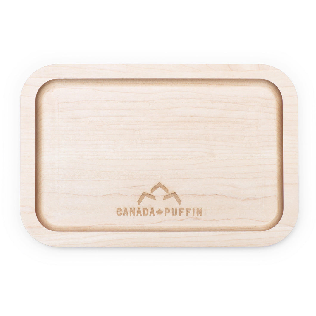 Canada Puffin maple wood rolling tray