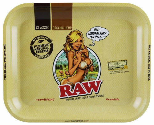Raw Rolling Tray Girl Design, Large