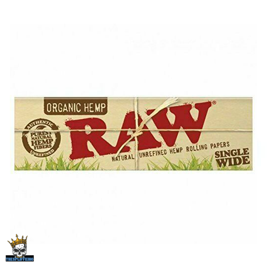 Raw Organic Hemp Rolling Papers, Regular Size