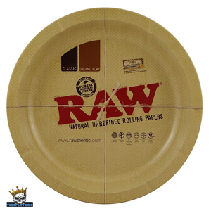 Raw Original design ROUND Rolling tray Large