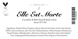 Elle Est Morte || Hand & Body Lotion - Book and Self